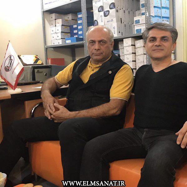 حمیدرضا صدیقی حضور بهمن دان در شرکت علم وصنعت حضور بهمن دان بازیگر سینما در شرکت علم و صنعت bahmandan elmsanat 600x600